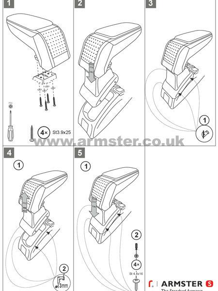 peugeot 206 1998-2012 armster s armrest - armster uk