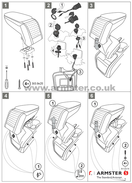Ford Focus MK3 Armster Armrest with USB AUX